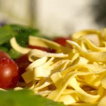 Fettuccini aux poivrons et crabe