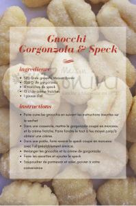 Recette gnocchi Goronzola & speck mb