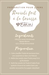 Recette raviolis frit à la Brousse