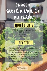 recette gnocchis en persillade
